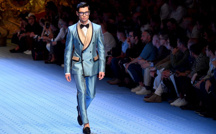 Dolce & Gabbana's opulent tailoring is always a highlight of the brand's fashion shows CREDIT: GETTY IMAGES EUROPE
