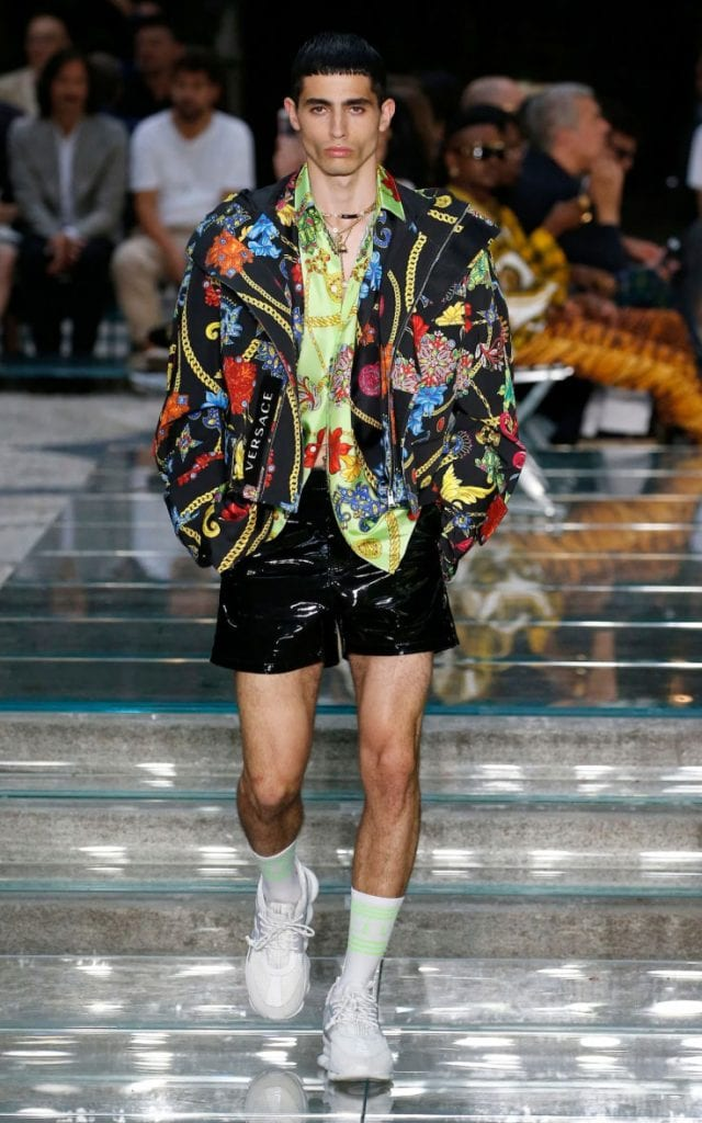 Shorts featured heavily in the brand's spring/summer 2019 show CREDIT: GETTY IMAGES EUROPE