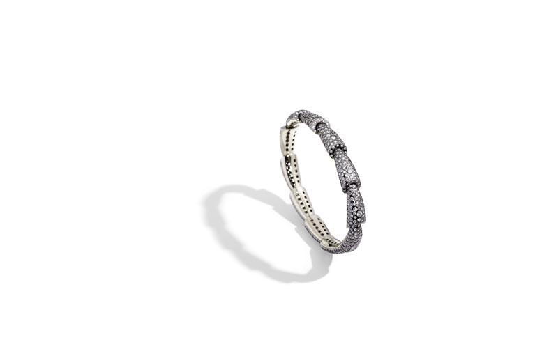 CALLA slim bracelet white gold diamonds eyeliner