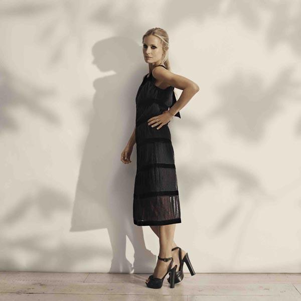 Laura Bailey x Iris & Ink capsule Anouck dress